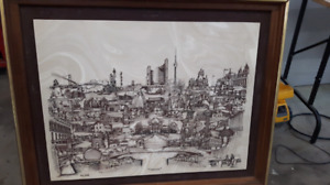 Tile picture in a frame  of ontario