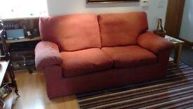 Large Sofa fabric covered.
