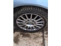 Ford alloys lookin to swap for 16 or 17 all good tyres on them