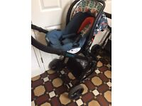 COSATTO GIGGLE 2 TRAVEL SYSTEM - CARRY COT - CAR SEAT - CHAIR SEAT - Mint New Used only few times