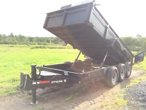 2015 Bri-mar tri-axle 16' dump. Like new