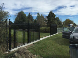 Professional chain link fence installation