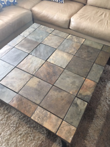Coffee table - square - hand made tile