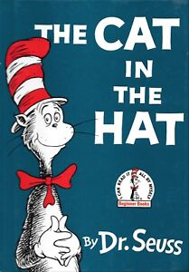 The Cat In The Hat Dr. Seuss Renewed 1985 Hard Cover Book