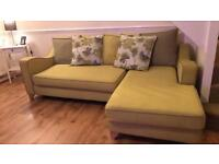 DFS Corner sofa & cuddle chair with docking station