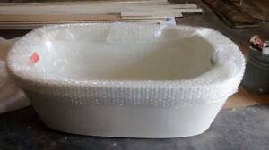 5 foot tub 2 piece free standing