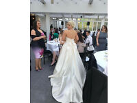 Wedding Dress (Watters) Ivory, size 10-12.