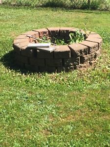 Fire pit or landscaping stones
