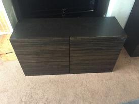 Ikea TV cabinet with matching storage unit
