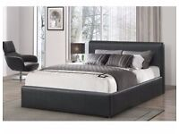 BRAND NEW DOUBLE LEATHER BED INCLUDING MATTRESS £99