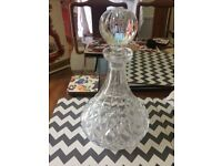 Crystal Glass Sherry Decanter