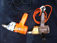 1970 / 80s - 2 Rare Black & Decker Vintage / Old Drills -- Working Order -- WILL POST