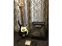 Line 6 LD150 Bass Amp and Peavey Milestone 3 Bass Guitar