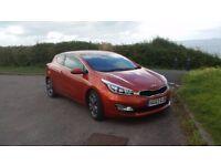 Kia ProCeed SE CRDI 1.6 Sunburst Orange 3 Door £30 Tax 33000 mls immaculate read on