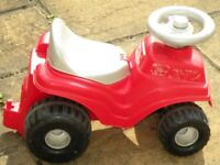 Ecoiffier red toy car with lift up seat and storage space