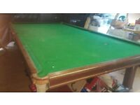 12ft×6ft snooker table