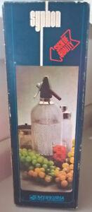 Vintage Merkuria Kovocas Wire Mesh Glass Siphon Syphon Seltzer