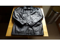 Mens black leather Jacket size L-XL Great Condition. Only £8