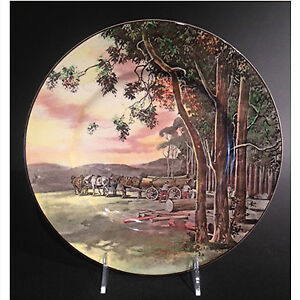 "Royal Doulton Art Deco dinner plate, ""The Woodcutters"""