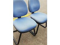 Blue office static office chairs ,Office meeting chairs, Office reception chairs