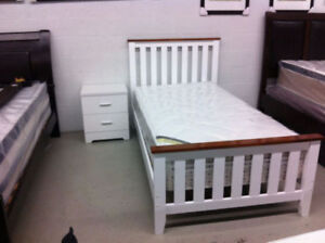 Brand new--Solid wood single bed frame $189.99--Free delivery