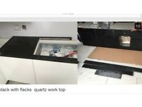 Quartz work top and sink