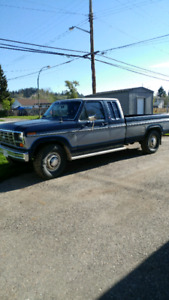1985 Ford  F-250 Desiel 6.9, Xcab long box camper special