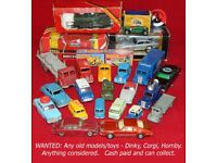 WANTED: Any old models/toys/trains - Dinky, Corgi, Lesney, Spot-On, Hornby, Lima, Matchbox, Bachmann