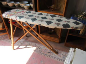 QUEEN antique wood ironing board