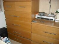 IKEA MALM CHEST OF DRAWERS X 2