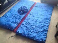 2 large sleeping bags