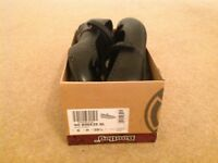 Brand new boxed girls Bootleg black leather shoes size 6 H