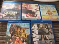 Blu rays x 5