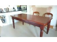 Mahogany dining table, 6 dining chairs. FREE to a good home.