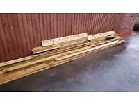 Deck boards various lengths