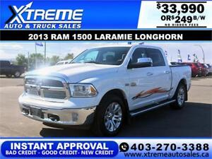 2013 RAM LARAMIE LONGHORN *INSTANT APPROVAL* $0 DOWN $249/BW!