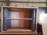 Office tambour storage cabinet