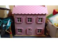Rose cottage dolls house and accessories