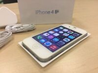 Boxed White Apple iPhone 4S 16GB Mobile Phone on ee / orange / t - mobile Mobile Phone + Warranty