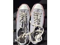 Converse faded grey size 5 ladies