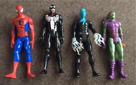 """Marvel 12"""" Action Figures inc Spider-Man and Green Goblin"""
