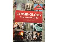 Sociology and Criminology degree books