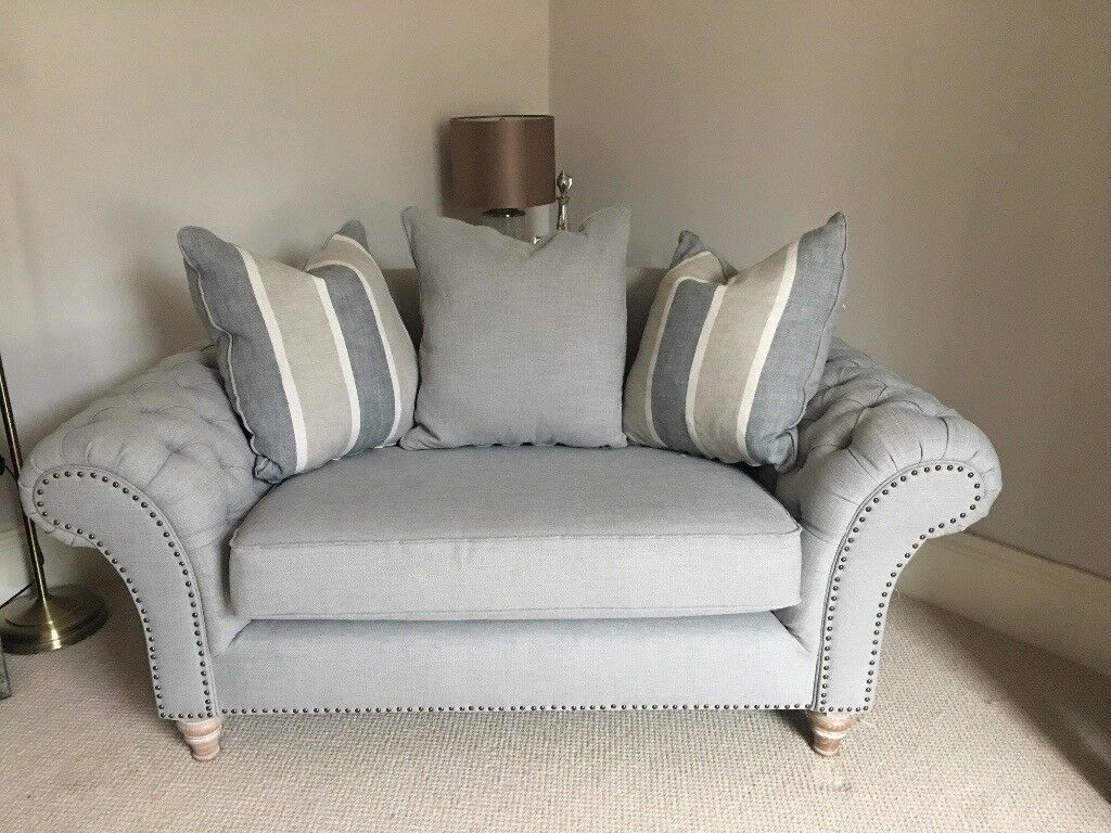Barker and stonehouse craven loveseat studded sofa in for Studded sofa sets