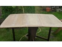 Oak drop leaf dining table