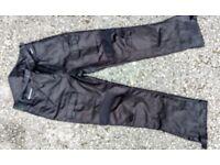 Textile waterproof motorbike trousers as new 36 waist
