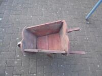 Minature Wooden Wheelbarrow Garden Planter