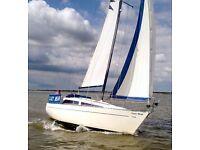 Leisure 29 yacht B/K 1 owner, wheel steering