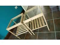 Ikea bamboo bedside tables x2