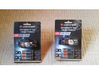 New Lifesystems head torches, includes 3 x AA batteries, packaging intact £15 each or £25 for both