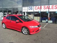 2009 09 HONDA CIVIC 2.0 I-VTEC TYPE-R 3D 198 BHP **GUARANTEED FINANCE ** PART EX WELCOME **